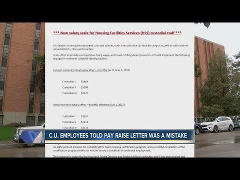 CU employees told pay raise letter was a mistake