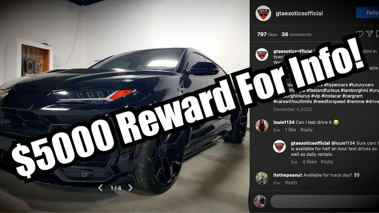 Rental Lamborghini URUS Stolen