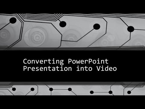 How to Convert ppt into Video? | PowerPoint Presentation | Formats - mp4, wmv, jpeg, gif