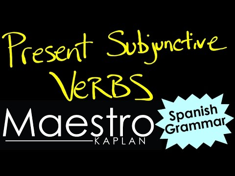 PRESENT SUBJUNCTIVE: How to form (conjugate) verbs in Spanish