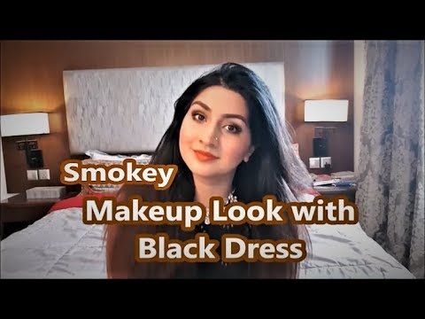 Ramadan Wishes, Smokey Eye Makeup Look with Black Dress