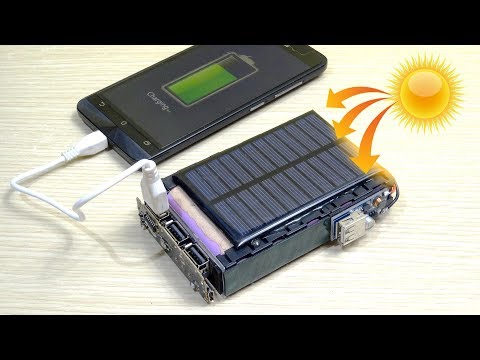 How to make a SOLAR POWER BANK charger for mobile