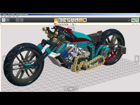 lego digital designer ...lefi chopper