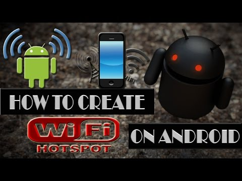 How to create a wifi hotspot on android?