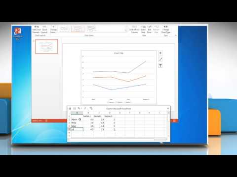 How to make a line graph in PowerPoint 2013