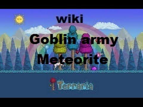 How to spawn goblin army + meteorite Terraria WIKI