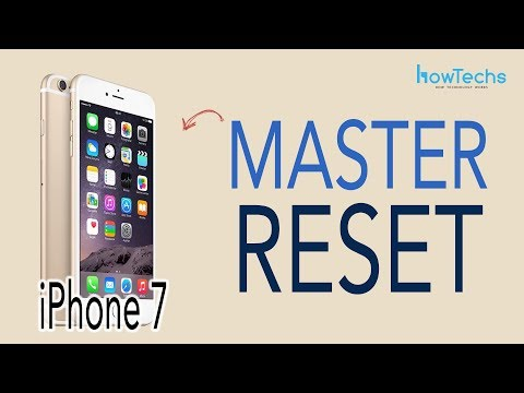 iPhone7 - How to do a Master Reset