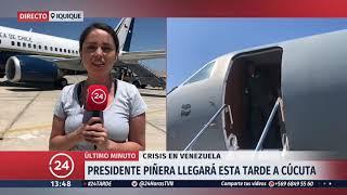 Presidente Piñera reanuda viaje a Cúcuta tras falla en avión presidencial