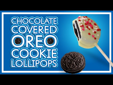 Chocolate Covered Oreo Cookie Lollipops
