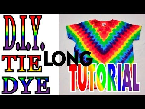 DIY Tie Dye V Diagonal Fan Fold Shirt [Full Tutorial] #29