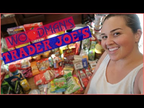 GROCERY | Trader Joe's & Woodman's Summer Camp Food HAUL - SRV #217 | Sarah Rae Vlogas |