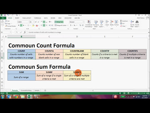 SUM or COUNT only certain items! SUMIF COUNTIF functions