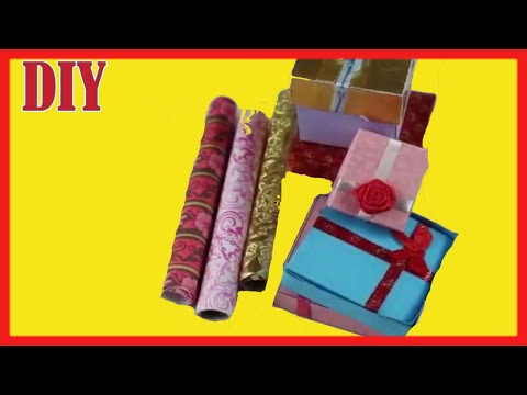 DIY  Miniature Christmas Gift Boxes & Wrapping paper/How to make