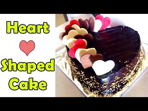 Heart Shaped Anniversary & Valentine's Day Cake Recipe, Fondant & Chocolate [Hindi]