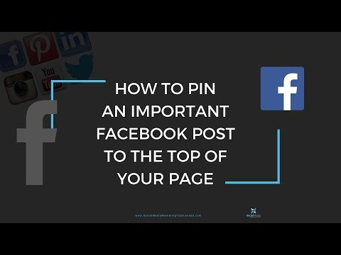How to Pin an Important Facebook post to the top of your Business Page