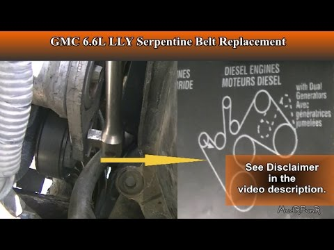 Duramax 6.6L LLY Serpentine Belt Replacement for Beginners