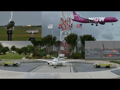 Summer thunderstorm passes DFW airport - 06/2018 [4K]