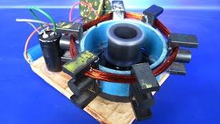 DIY Electric Free Energy Generator Using DC Motor With