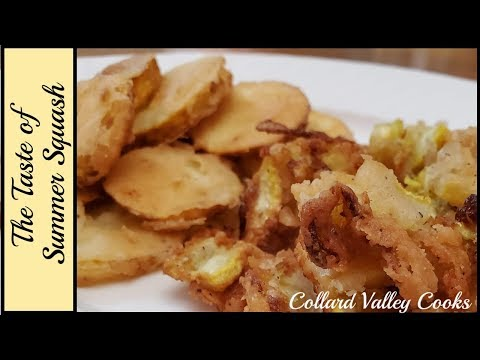1.22.2018 How to Fry Squash, Fried Squash that is Crunchy and Amazing!