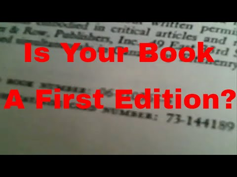 How to Tell if a Book is First Edition - Know the Printing Number
