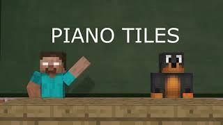 Monster School : PIANO TILES 2 CHALLENGE!! - Minecraft Animation