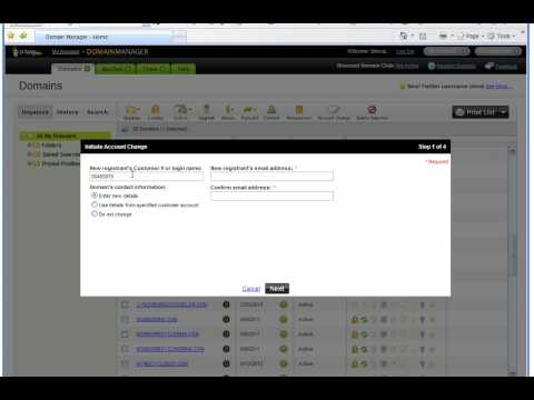 How to transfer a domain name from one GoDaddy account to another GoDaddy account