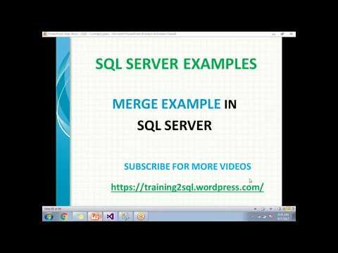 MERGE IN SQL SERVER | MERGE STATEMENTS IN SQL