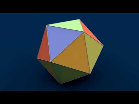 Net of Solid Shapes - Icosahedron / Ікосаедр / Икосаэдр