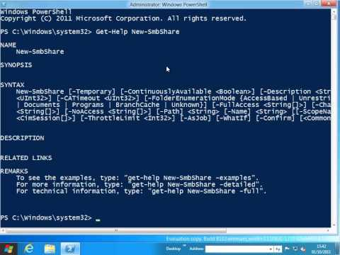 WIN8: PowerShell 3 Create a share and set the permissions