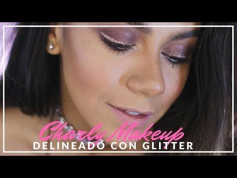 Maquillaje Navideño  Delineado con Glitter | Look tono vino | Charly Makeupp