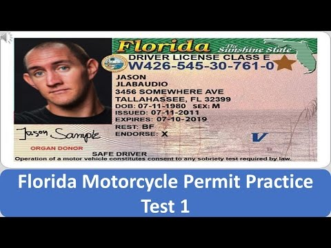 Florida Motorcycle Permit Practice Test 1