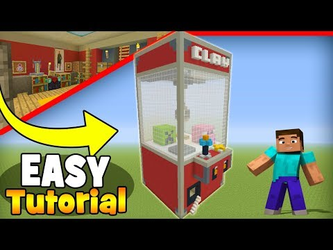 Minecraft Tutorial: How To Make An Arcade Claw Machine House