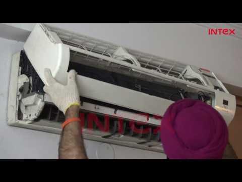 Split AC Indoor Unit Dry Service Process  Hindi