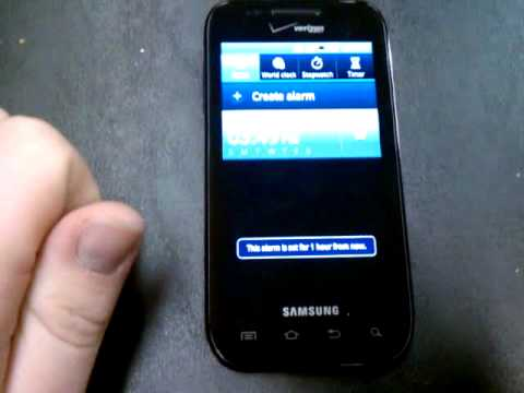 How to Set/Unset Alarm on Samsung Fascinate