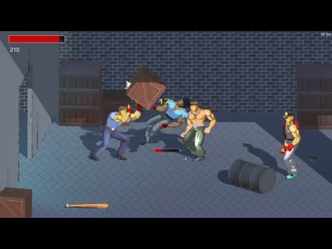 Unity3d 2D Brawler Game ( Beat'em Up) Alpha Prototype 2