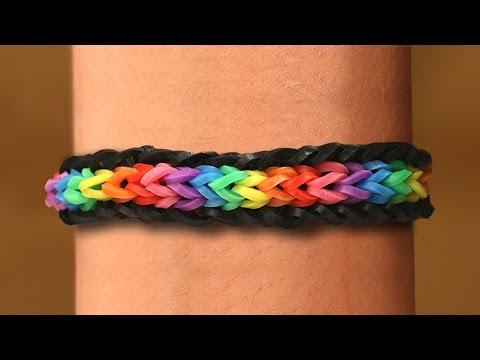 Rainbow Loom English - UNICORN - Loom Bands, easy, how to, DIY
