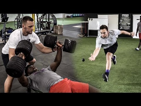 Athletes Speed and Upper Body Workout
