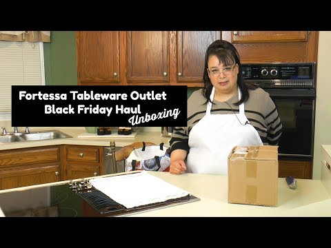 Fortessa Tableware Outlet Black Friday Unboxing ~ Restaurant Supply Haul ~ Amy Learns to Cook