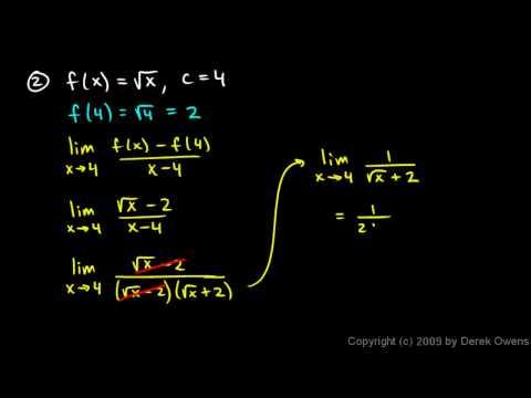 Calculus 3.02d -  Difference Quotient Practice Problems