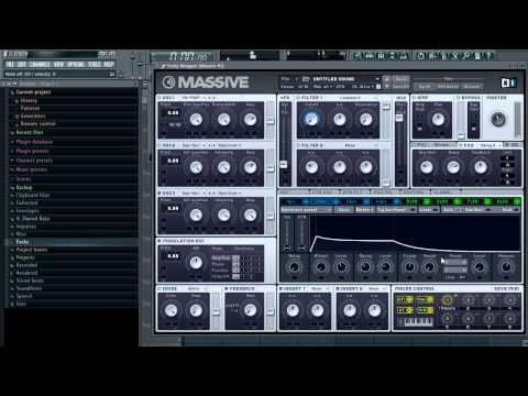 Sound Design tutorial in Massive -  005 Beautiful Pluck