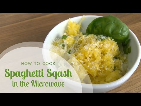 How to Cook Spaghetti Squash in the Microwave and Spaghetti Squash Recipe with Basil and Parmesan