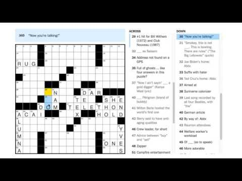 The October 27, 2016 New York Times Crossword by Milo Beckman