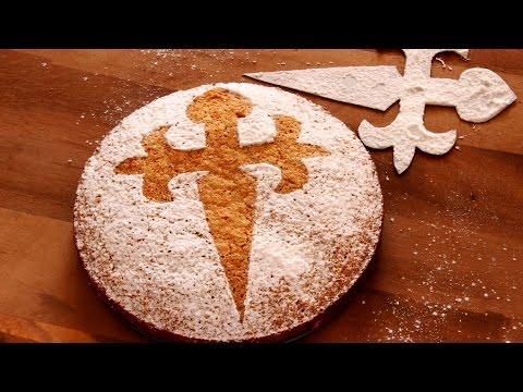 Almond Cake Tarta de Santiago Recipe | HappyFoods