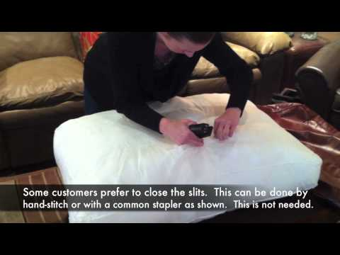 How to fill your back pillows