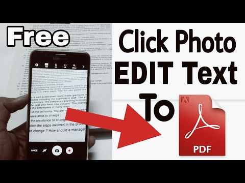 Convert Image to Text Document and Edit || Android Image to pdf converter