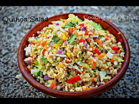 Healthy Quinoa Salad Recipe | Best Rainbow QUINOA Salad Recipe Ever