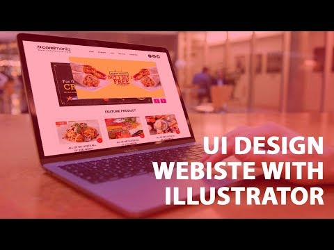 UI Website Food Home page Part 1 UI & Web design for beginners