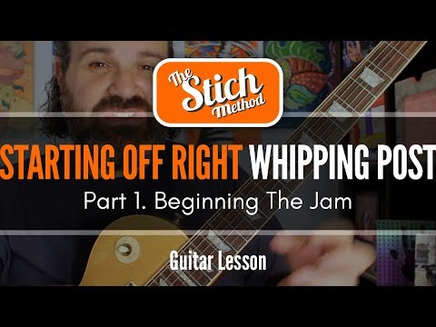 Whipping Post Jam: Part 1.  Scale Shapes and Thought Process