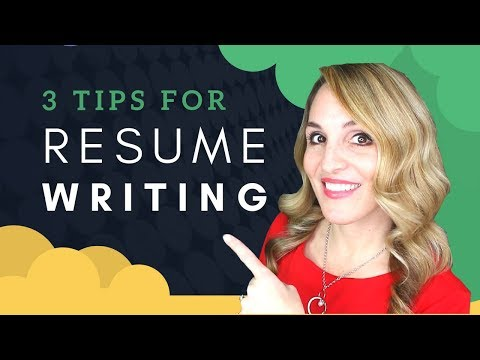 How to Write a Resume For A Job  - Resume Writing Strategies
