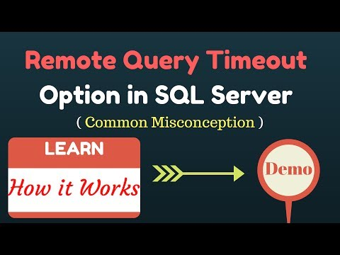 Myth about Remote Query Timeout option in SQL Server